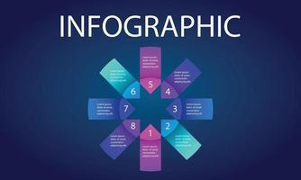 visualización de datos de infografías vector