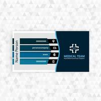 Medicine business card with logo vector