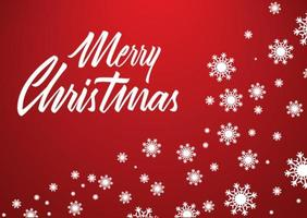 Merry christmas and new year typographic lettering banner vector