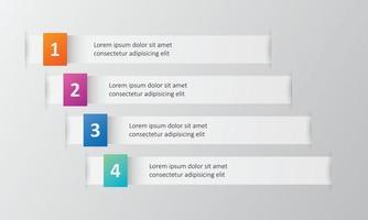 Plantilla de infografías de 4 opciones. vector