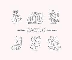 Cactus Hand Drawn Vector Objects