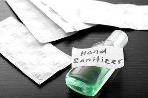Minimalist image of a hand sanitizer photo