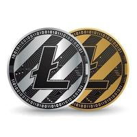 Litecoin Gold and Silver Cryptocurrency vector