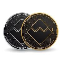Waves Gold and Silver Cryptocurrency vector