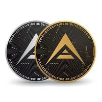 Ark Gold and Silver Cryptocurrency vector