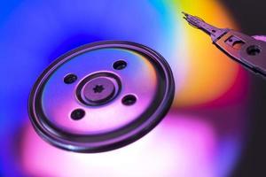 disco hdd roraty con reflejos de colores foto