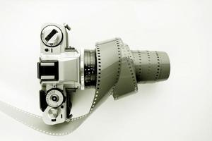 Vintage SLR film camera photo