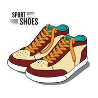 zapatos deportivos de dibujos animados vector