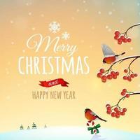 Christmas greeting card poster vector
