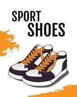 ilustración vectorial de zapatos deportivos vector