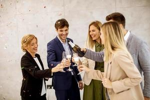 People toasting in celebration photo