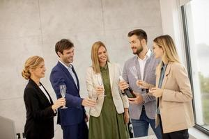 Group of professionals toasting photo
