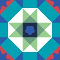 Peranakan patrón de mosaico cultural sin fisuras patrón geométrico de fondo vector