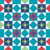 Vintage Peranakan cultural tile geometrical seamless pattern in Georgetown Penang Malaysia vector