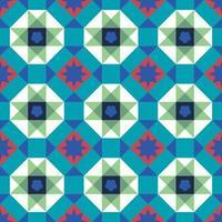 Geometrical seamless vintage Peranakan Baba Nyonya Tiles Pattern in Georgetown Penang vector