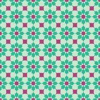 Vintage floral tile seamless pattern in Peranakan cultural Malaysia vector