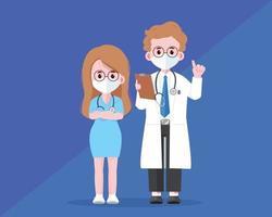 Doctor Medical good team cartoon art illustration vector