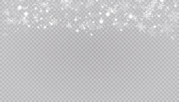fondo blanco nieve copos de nieve de navidad vector