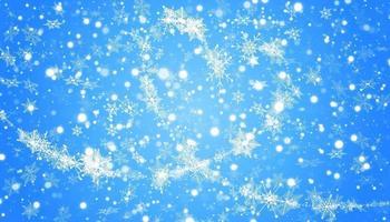 copos de nieve en forma de corazón en un estilo plano en líneas de dibujo continuas vector