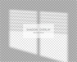 Shadow overlay effect Natural shadows from window isolated vector