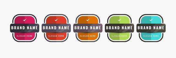 Business badge design template Company logo badge set Vector illustration