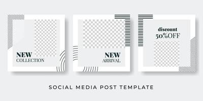 Social media fashion trendy stories and post creative vector set