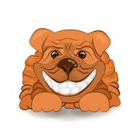 vector image of a friendly dog