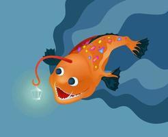 illustration of a deep sea specimen vector