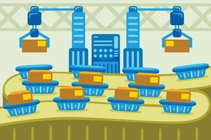 Factory Automatic Industry Vector Illustration