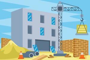 Ilustración de vector de construcción de edificios