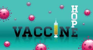 Banner design template concept vaccine stop covid vector