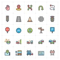 Traffic and Accident Color Icon vector