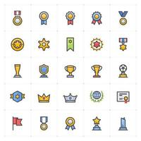 Awards Trophy Full Color Icon vector