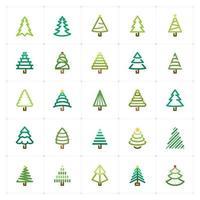 Christmas Tree Color Icon vector