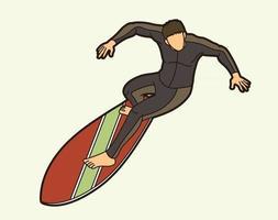 Surfing Sport Surfer Vector