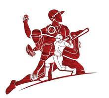 Baseball Team Action vector