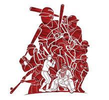 Baseball Team Graphic Vector
