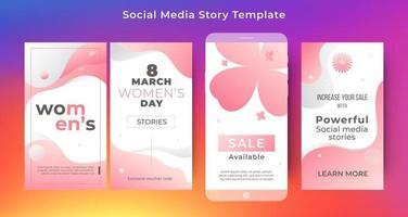 Social media story women day template vector