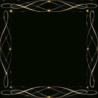 marcos dorados con resplandor y resplandor vector