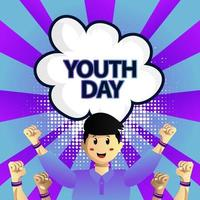 Square youth day illustration design vector