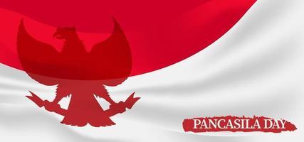Pancasila day banner background design vector