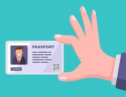 modern passport plastic card flat vector illustration