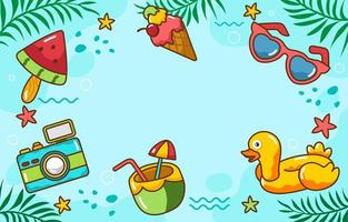 Summer Season Background vector