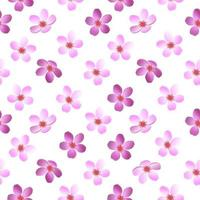 WHITE PATTERN WITH PINK AND PURPLE FLOWERS vector