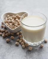 Chick peas milk with chick peas photo