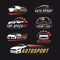 conjunto de logotipo de coche vector