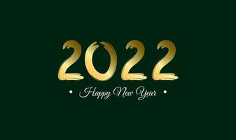 Design template celebration poster banner or greeting card for 2022 happy New Year Vector Illustration