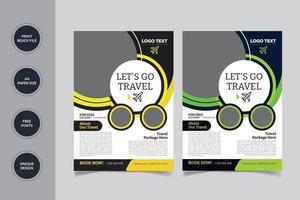 Travel Agency Flyer Design vector