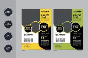 Gym Flyer Design vector