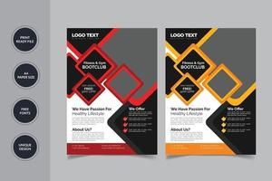 Modern abstract gym flyer vector